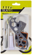 """Ремкомплект для велосипеда, блистер (ключ+ 2монтировки с крючком+ клей+ тёрка+ 5заплаток+ 2колпочка+ 2жгута) (195-062) """"SILAPRO"""""""
