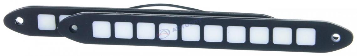 """Огни дневные ходовые KS-362 FLC (3.5W, 10 диодов, 12V), гибкий корпус, чёрный, 246*6*27мм  """"K&S"""""""