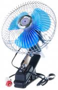 "Вентилятор салона 6""  12V, с поворотом, хром, на прищепе   ""K&S""  (Китай)"