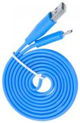 """Кабель USB 2.0 - microUSB, 1м, 2.1А голубой, плоский  """"OLMIO""""  арт: 038700"""