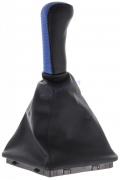 Чехол+ручка КПП ВАЗ 2170 (синий) с рамкой