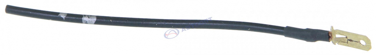 Разъем штырь 6,3 мм с проводом (папа)