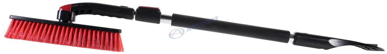 Щетка FELIX для удаления снега телескопическая  поворотная со скребком