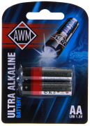 Батарейки пальчиковые щелочные AWM AA LR6 1.5V блистер (комплект 2 шт)