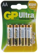 Батарейка GP LR6 ULTRA ALKALINE 15AU-2UE4 (блистер 4 шт.)   АА