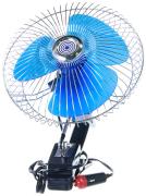 "Вентилятор салона 8""  24V, с поворотом, хром, на прищепе   ""K&S""  (Китай)"