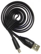 "Кабель USB 2.0 - micro USB, 1м, 2.1А, черный, плоский ""OLMIO"" арт:038658"
