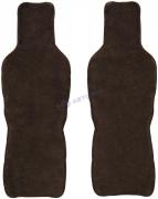 Накидки иск/мех на передние сиденья (коричневый) к-т 2 шт.