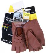 Перчатки водителя женские, овчина DR511-19