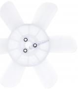 Крыльчатка вентилятора радиатора 6-ти лопастная ВАЗ-2121 белая (завод, балансир.) (2121-1308008) (г.Димитровград)