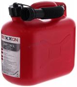 Канистра для топлива 5л без детской крышки (красная) REXXON