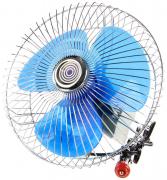 "Вентилятор салона 8""  12V, с поворотом, хром (KS-2112 (8) 12V (8-043))   ""K&S""  (Китай)"