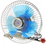 "Вентилятор салона 6""  12V  с поворотом, хром  ""K&S"" (Китай)"