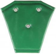 Корректор ремня безопасности кожа (зелёный)