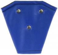 Корректор ремня безопасности кожа (синий)