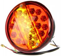 Фонарь подсветки номерного знака+поворотник+стоп сигнал+габарит (КРУГЛЫЕ), светодиодный (LED) (817)