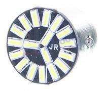 Светодиод с цоколем (белый) 12V (BAY15d) 21/5W  18LED SMD, (2-конт.) (габарит, стоп-сигнал) (1157 SMD18 (4014))
