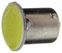 Светодиод с цоколем (белый) 12V (BA15s) 21W 1COB, сплошная заливка (1-конт.) (поворот, стоп-сигнал)