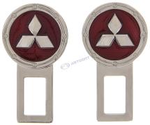 Заглушка замка ремня безопасности MITSUBISHI 2 шт (металл)