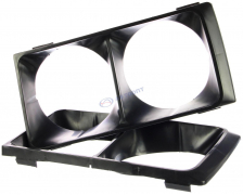 Облицовка фар ВАЗ-2106 (очки фар) черные (8401016/17) М