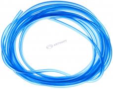 Шланг бенз.мас d 6 мм топливный ПРОЗРАЧНЫЙ синий (10 метров)  (г.Тольятти)