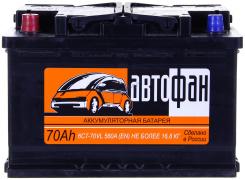 Аккумулятор АКОМ Автофан 75Ач [Европейский/Прямая полярность] 700A