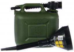 "Канистра ГСМ Профи green (зеленая)  5л. ""Oktan"" +  Воронка ГСМ 135 мм"