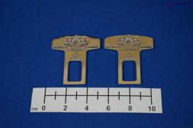 Заглушка замка ремня безопасности JP 2шт.(металл)