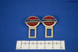Заглушка замка ремня безопасности NISSAN 2шт.(металл)