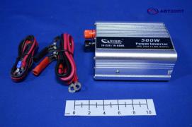 """Преобразователь напряжения 24/220 (500W) от АКБ и прикур-ля, USB разъем (инвертор)   """"K&S"""""""