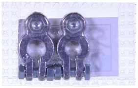Клемма аккумулятора свинец узкая (блистер) на иномарки (г.Новосибирск)
