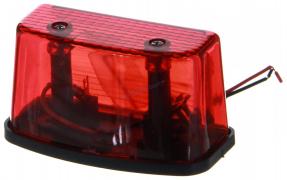 Фонарь подсветки номерного знака ЕВРОФУРА (прямоуг.), красная (01777)