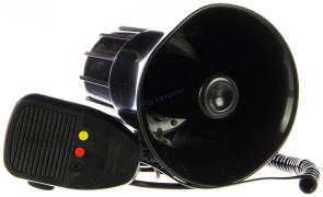"""Сирена автомобильная 3-х тональная KS-8223-R (KS-816), 12V/30W, с микрофоном """"K&S"""""""