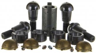 Шкворень УАЗ-3160 (на шарах с латунными вкладышами) старого образца 4 усика (комплект в упаковке) с ключом (РСТ-3160-2304019 4ус.)