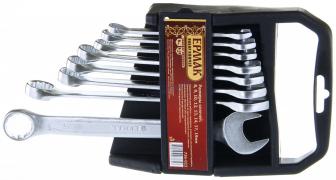 """Набор ключей рожково-накидных (8 предметов) пластик холдер матовые 8-19мм (736023) """"ЕРМАК"""""""