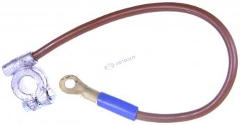 Клемма аккумулятора (--) с проводом УАЗ-469,31512 (0,45м) S10