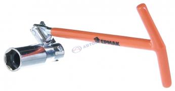 """Ключ свечной карданный 16 усиленный, ручка металл (766018) """"ЕРМАК""""  (Китай)"""