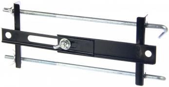 Крепление АКБ 27 мм прямое универсальное (планка раздвижная+2 крючка)