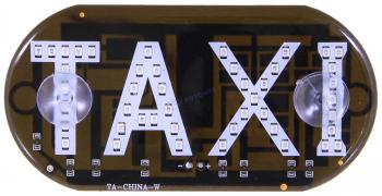 """Знак """"ТАКСИ-ШАШКИ"""" в салон KS-02(B), светодиод, СИНИЙ, скотч (блистер)   """"K&S"""""""