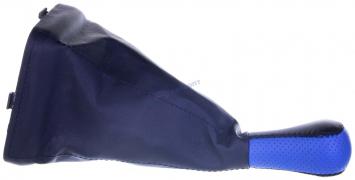 Чехол+ручка КПП ВАЗ 2115 (синий) с рамкой