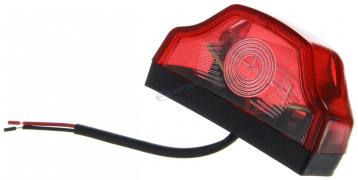 Фонарь подсветки номерного знака ЕВРОФУРА (волна), красная (01775)