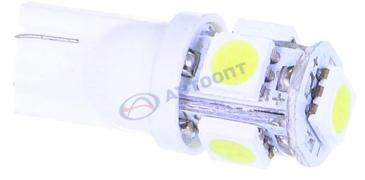 "Светодиод без цоколя (белый) 12V (W2,1-9,5d) 5LED Т10 SMD (поворот, габариты) ""Луч"""