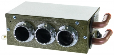 Печка дополнительная 12V без регулятора универс. с 3-мя соплами