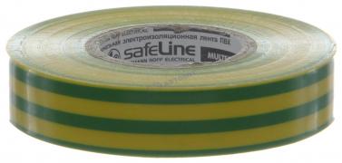"""Изолента 15мм*20м желто-зеленая """"Safeline"""" (Китай)"""