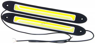 """Огни дневные ходовые KS-Y240 FLC (COB, 3.5W), гибкий корпус, чёрный с повторителем поворотов (255*6*32мм)  """"K&S"""""""