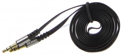 "Аудиокабель AUX 3.5мм(m)-3.5мм(m), длина1,2м, черный ""OLMIO""  арт: 038642"