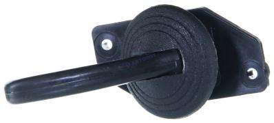 Ручка салона дверная ВАЗ-2101-2106 пластмассовая с кольцом (крючок)