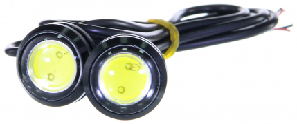 """Огни дневные ходовые KS-H004 (1 High Power LED) линза, металл, провода   """"K&S"""""""