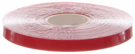 Лента клеющая 3М 2-х сторонняя 8ммх5м (красная) картон