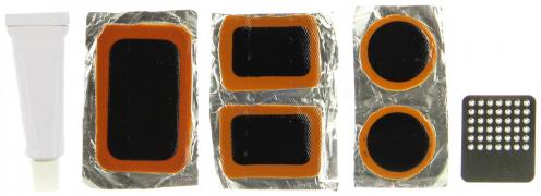 """Р/к для велосипеда, пластик. контейнер (клей+ тёрка+ 5заплаток) (195-045) """"SILAPRO"""""""